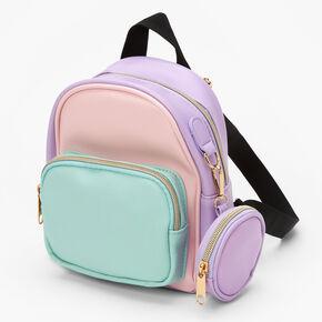 Pastel Colorblock Mini Backpack,