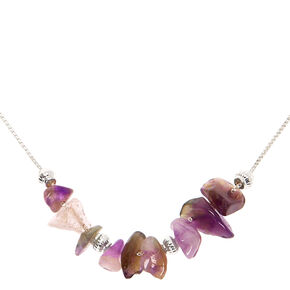 Amethyst Stone Peace Pendant Necklace,