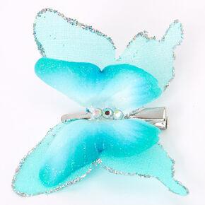 Glitter Butterfly Hair Clip - Mint,