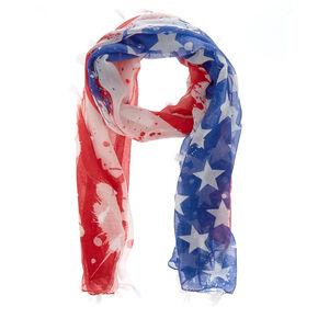 American Flag Tassel Scarf,