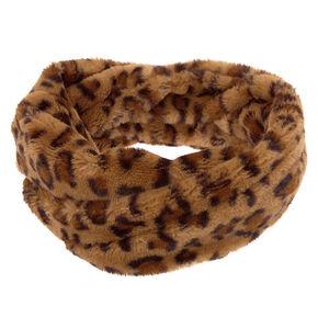 Plush Leopard Infinity Scarf,