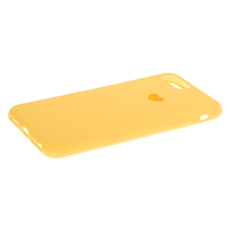 Mustard Heart Phone Case - Fits iPhone 6/7/8 Plus,