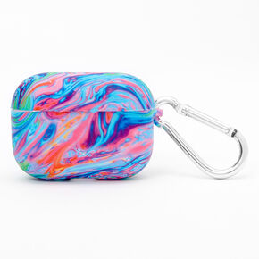 Rainbow Marble Silicone Earbud Case Cover - Compatible with Apple AirPods pro®,