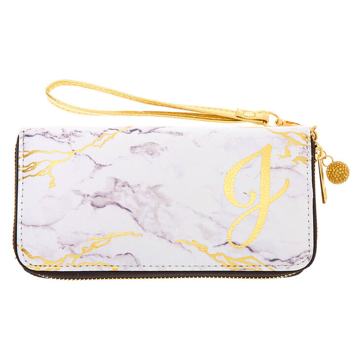 Marble Initial Wristlet - J,