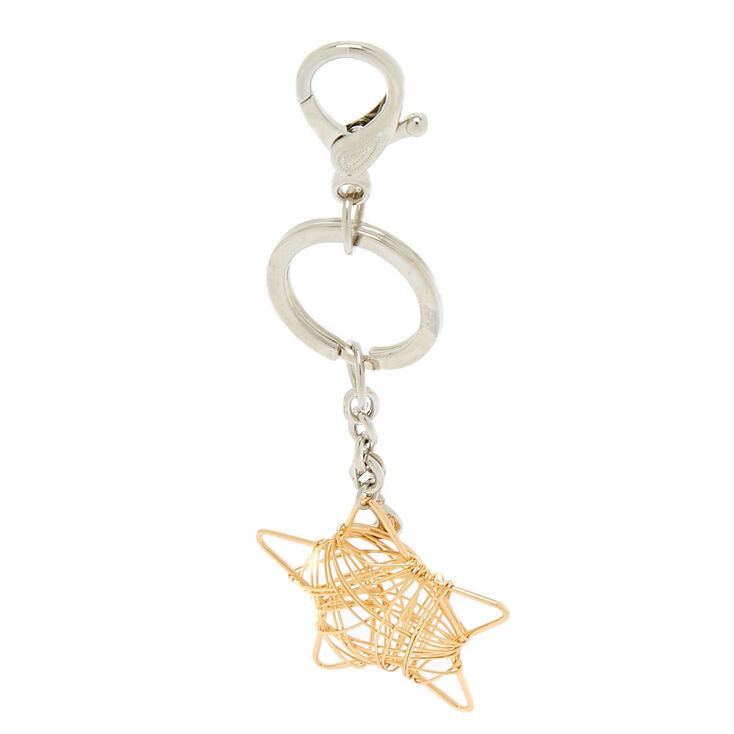 Star Wire Keychain - Gold,