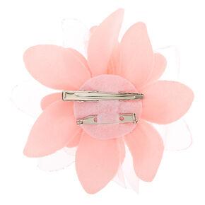 Flower Hair Barrette - Baby Pink,