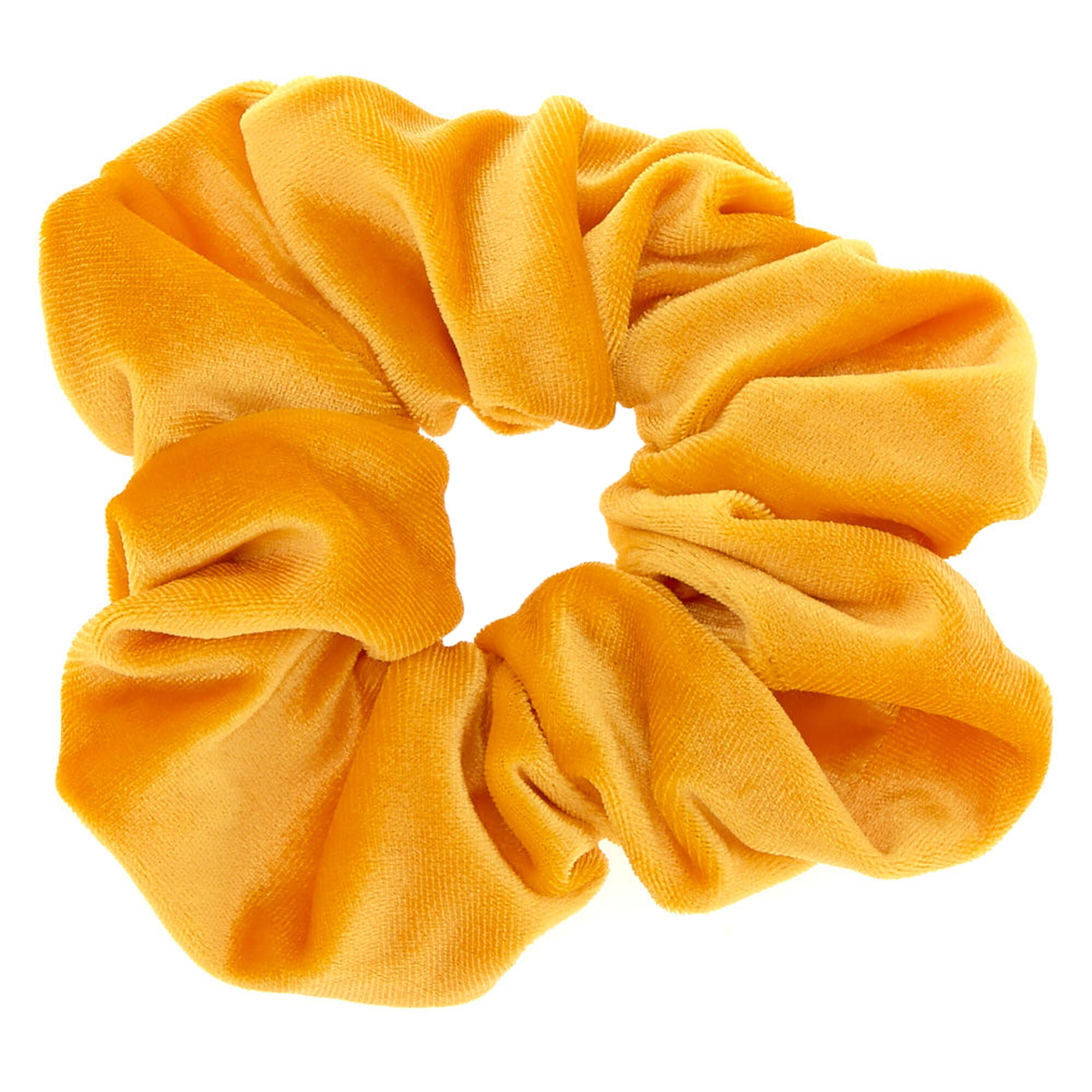 Oversized Velvet Hair Scrunchie - Mustard Yellow   Icing US