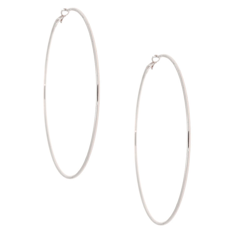 Silver 100MM Hoop Earrings,