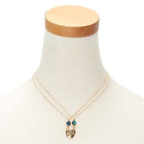 Best Friends Moon Sister Pendant Necklaces - 2 Pack,