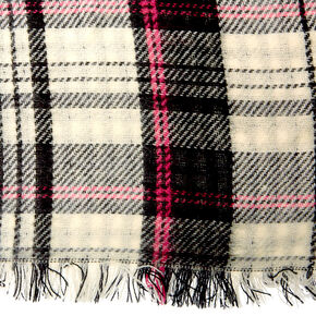 Plaid & Houndstooth Oversized Scarf,