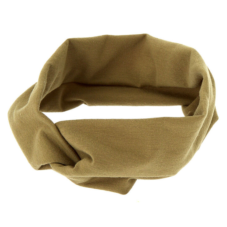 Wide Jersey Twisted Headwrap - Sage,