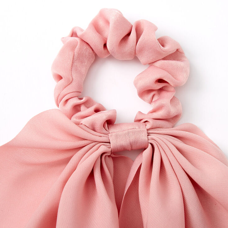 Small Hair Scrunchie Scarf - Blush Pink,