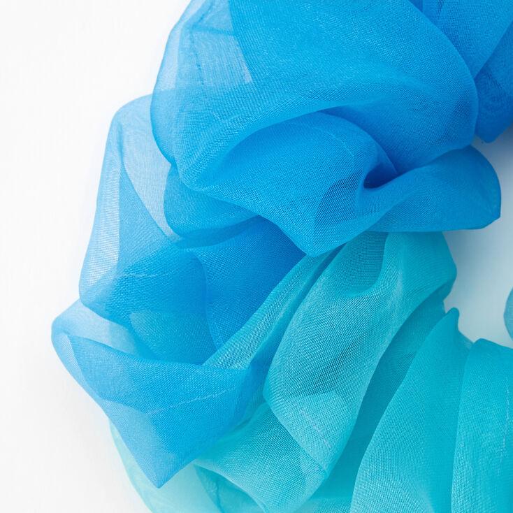 Giant Seaside Ombre Hair Scrunchie,