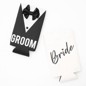 Bride and Groom Drink Koozie Set - 2 Pack,