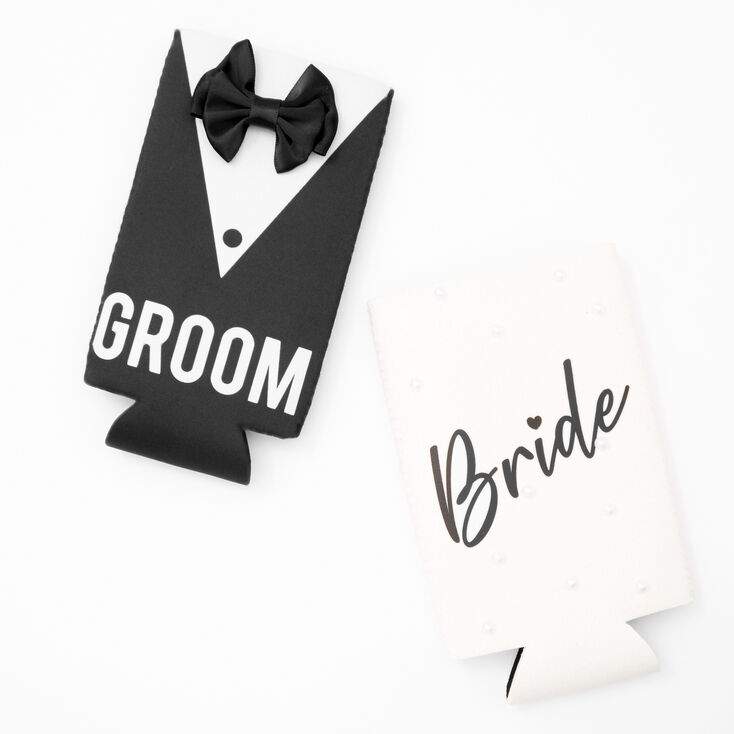 Bride and Groom Drink Koozie Set - 2 Pack,
