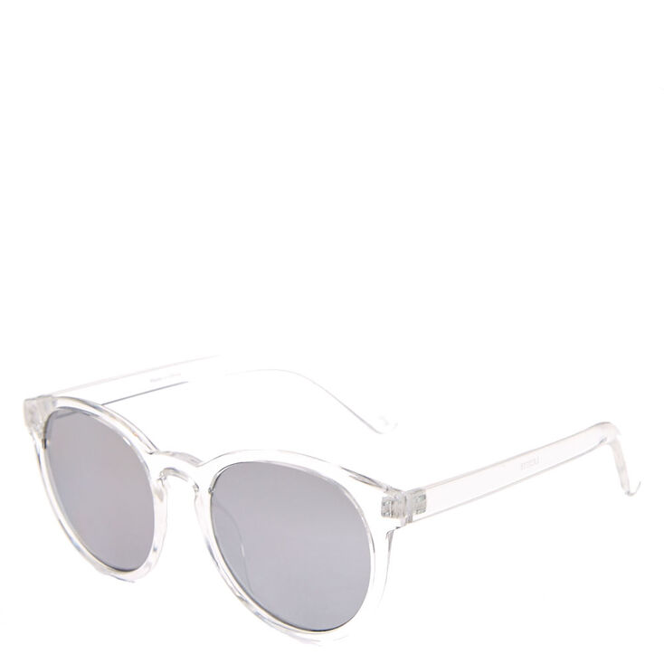 Clear Cat Eye Mirrored Sunglasses,