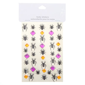Spider Glitter Body Stickers,