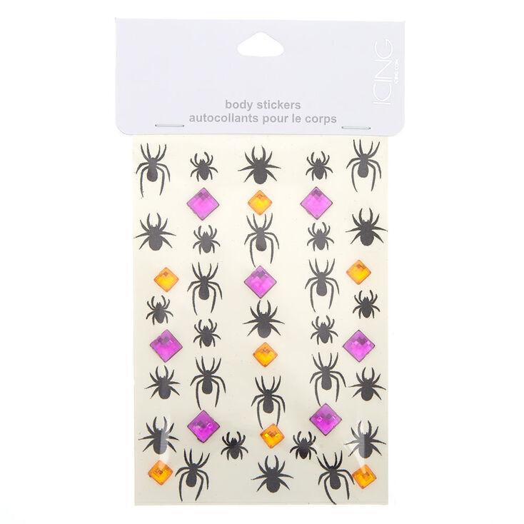 Spider Glitter Body Stickers,