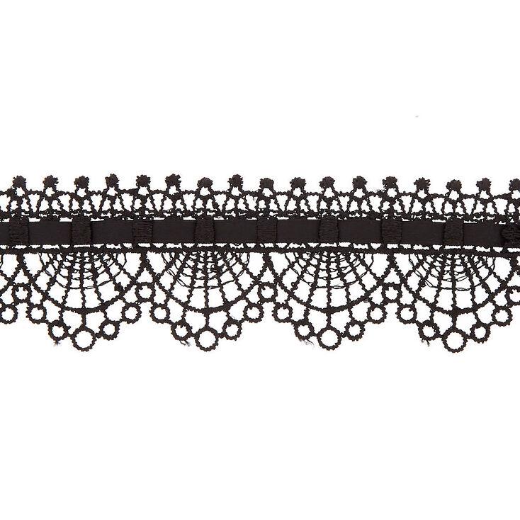 Lace Choker Necklace - Black,