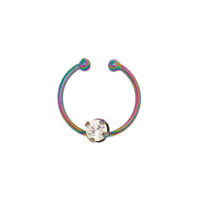 Oil Slick Faux Nose Ring,