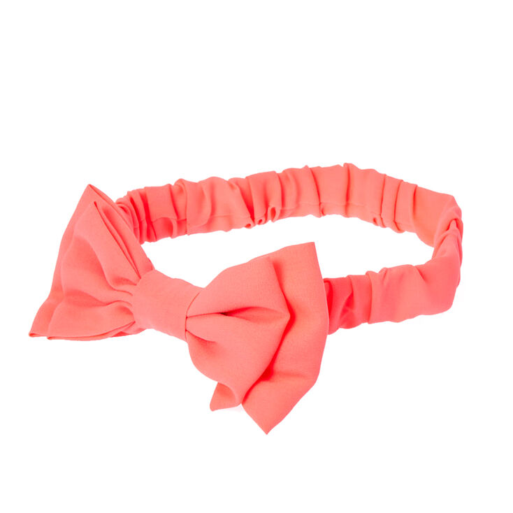Neon Pink Bow Headwrap,