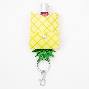 Pineapple Hand Sanitizer Pouch Keychain - Yellow,