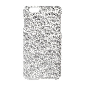 Scalloped Rhinestone & Pearl Phone Case,