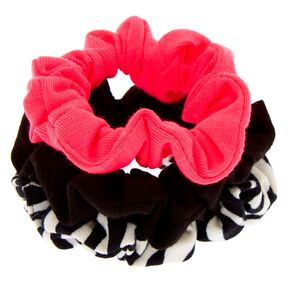Neon Zebra Mini Hair Scrunchies - 3 Pack,