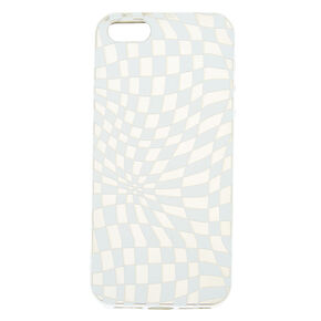 Checkered Illusion Phone Case - White,