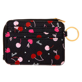Cherries Coin Purse - Black,