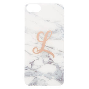 Marble L Initial Phone Case - Fits iPhone 6/7/8,