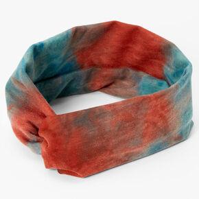 Red & Blue Tie Dye Twisted Headwrap,