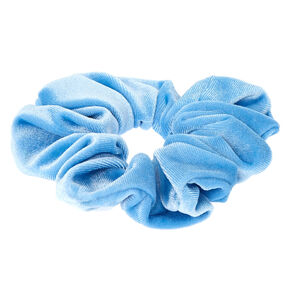 Velvet Hair Scrunchie - Sky Blue,