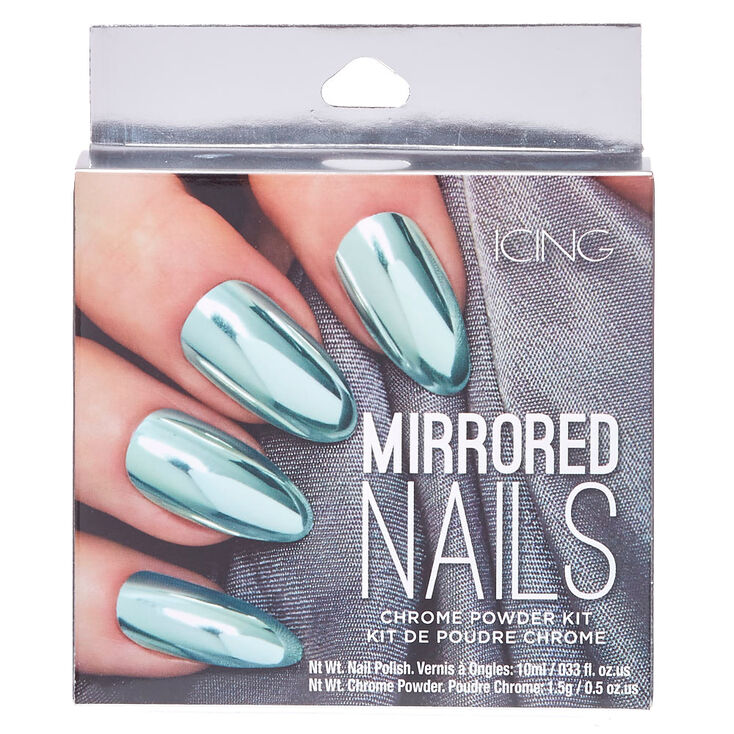 Mint Chrome Powder Nails Kit | Icing US