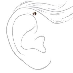 Silver 16G Opal Helix Earring,