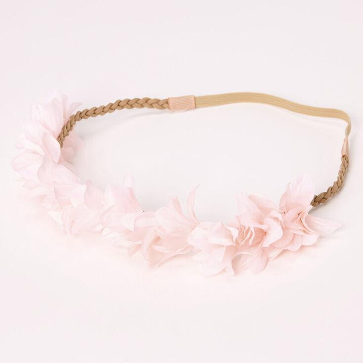 Flower Petal Braided Headwrap - Blush Pink,