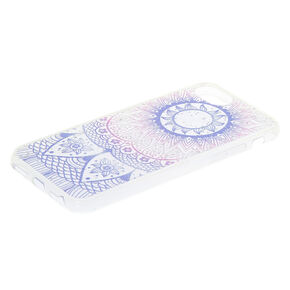 Pastel Glitter Mandala Phone Case,