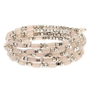 Light Pink Beaded Coil Bracelet,
