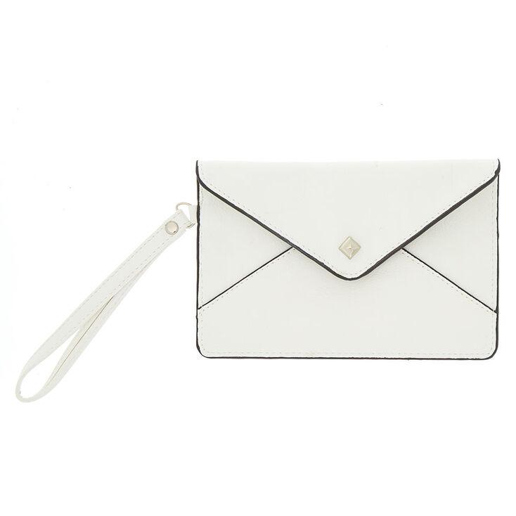 Envelope Wristlet Pouch - White,