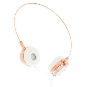 Glamorous Pearl Headphones - Rose Gold,