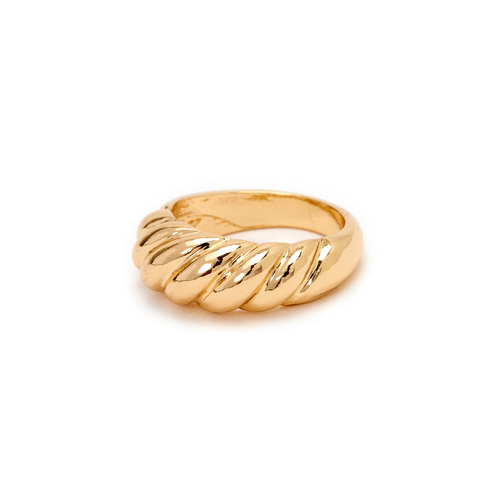 Gold Croissant Statement Ring,