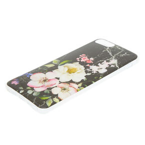 Marbled and Floral Phone Case,