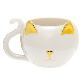 Catfeinated Ceramic Mug - White,