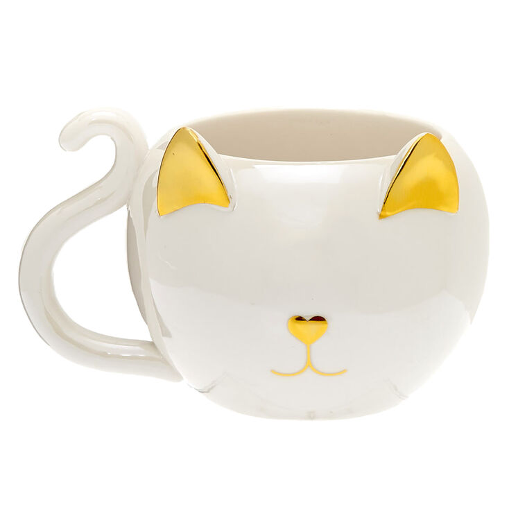 Catfeinated Ceramic Mug - White,