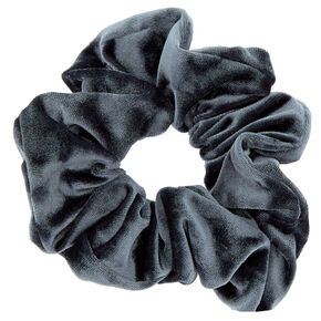 Medium Velvet Hair Scrunchie - Slate Gray,