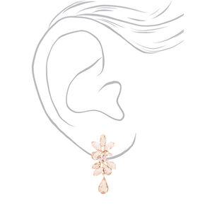Rose Gold Rhinestone Glam Jewelry Set - 2 Pack,
