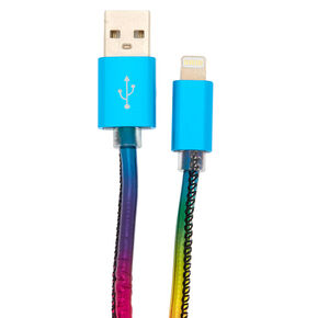 Metallic Rainbow Lightning USB Cord,