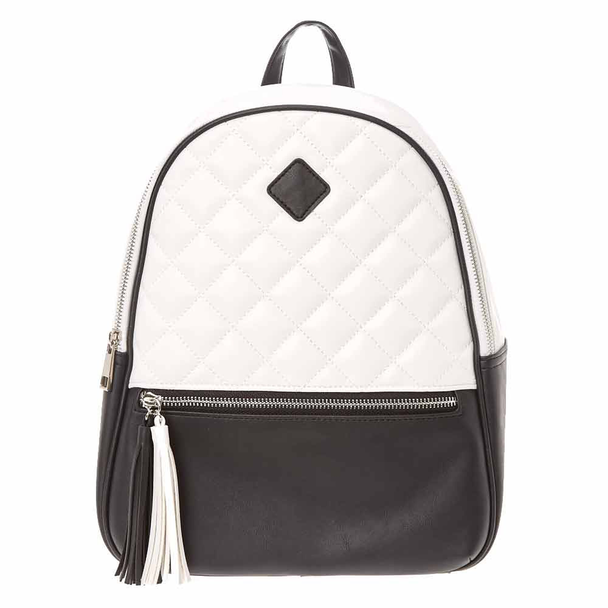 52448179c Monochrome Quilted Midi Backpack | Icing US