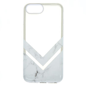 Geometric Marble Protective Phone Case - White,