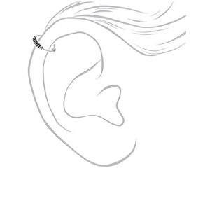 Sterling Silver 22G Coiled Cartilage Hoop Earring,